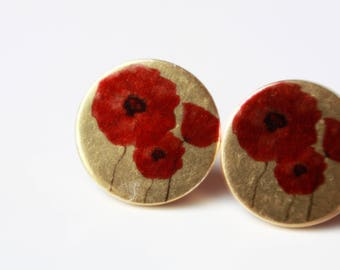12 mm Stud Earrings, flowers