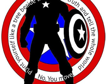 Custom Vinyl Full Figure Captain America Sticker