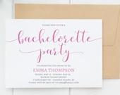 Bachelorette Party Invitation, Editable Bachelorette Party Invitation Printable, Bachelorette Invitation Template, Instant Download. WC3