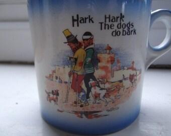 """Nursery mug - """"the dogs do bark"""""""
