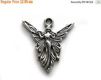 HALF PRICE 10 Silver Fairy Charms - 20mm