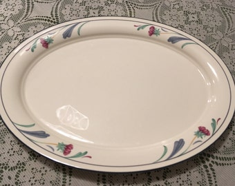 Lenox Chinastone Poppies on Blue Large Platter
