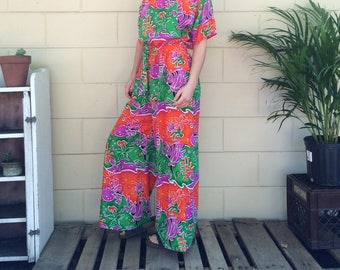 Vintage Caribbean Girl Two Piece Outfit ~ Tag size S