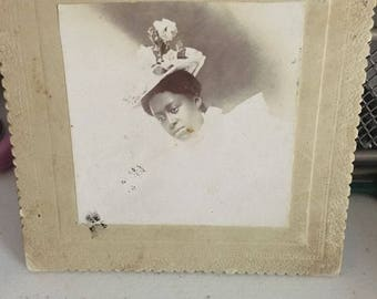 Vintage Cabinet PhotolAfrican American woman