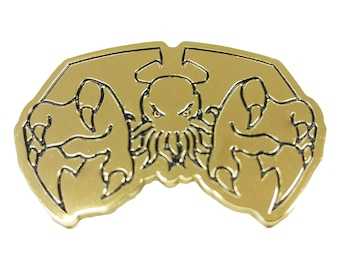 Cthulhu Elder God Lord of Darkness Gold Plated Lapel or Fabric Pin