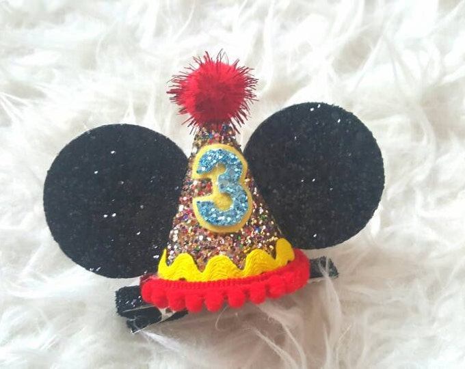 BIRTHDAY Mouse Ears Clip | Minnie Mouse Birthday | Minnie Ears | Minnie Clip | Disney bound | Minnie Style | Mickey Mouse Birthday