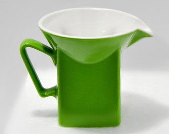 Mid Century Modern Green Pitcher Creamer Johnson Brothers England Retro