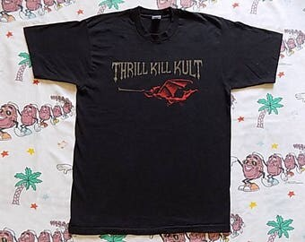 Vintage 90's My Life With The Thrill Kill Kult T shirt, size L/XL Seven Circles of Hell goth industrial rock