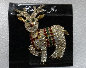 Eisenberg Ice Christmas pin - reindeer