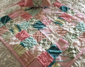 Vintage Chenille American Doll Quilt