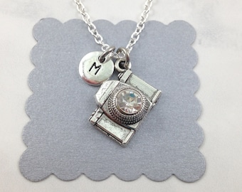 Camera Charm Necklace, Camera Necklace, Camera Jewelry, Photographer Gift, Personalized Gift, Wedding Photographer Gift