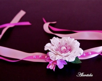 Flower Corsage Child Wrist Corsage Flower Corsage for little Girl