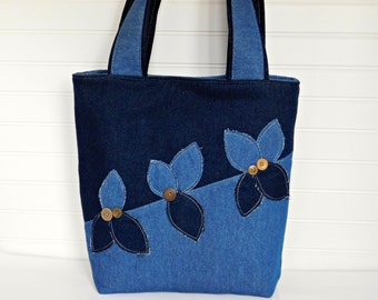 Denim tote bag | Etsy
