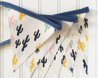 Cactus Bunting Banner, Cactus, Party Decor, Baby Shower Decor, Nursery Decor, Photo Prop, Fabric Bunting, Pennant Banner, Garland, Bunting