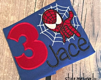 Spider Man Red and Blue Birthday Shirt