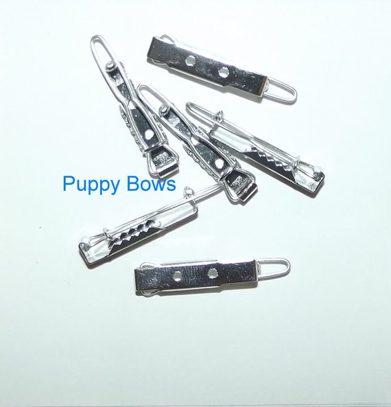 Puppy Bows ~ craft items bow making supplies 25mm hair DIY barrette clip