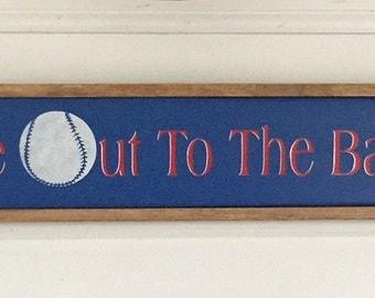 Baseball Sign. Cubs. Baseball Decor. Take Me Out to the Ball Game.