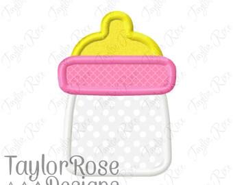 Baby Bottle Applique Machine Embroidery Design 2.5x2.5 4x4 5x7  INSTANT DOWNLOAD