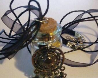 Dreamcatcher Bullet Casing Vial Necklace