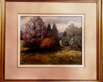 Celine Beauséjour landscape painting is not title