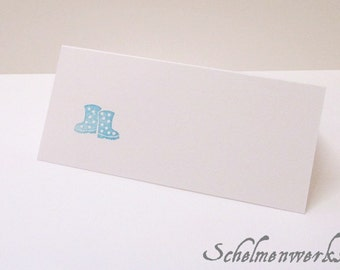 Place card with stamped rubber boots (6 PCs)