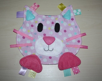 Pink polka dot cat lovie