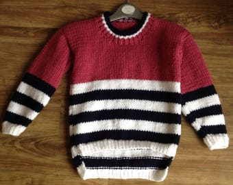 Girls striped jumper