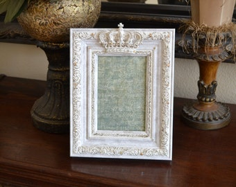 Embellished 4 X 6 Picture Frame w/Crown and Swarovski Crystal Accents