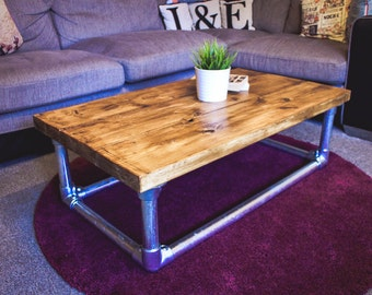 Scaffold coffee table - Industrial style coffee table Scaffold board Scaffold Tube