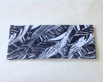 Black and White Abstract Spandex Headband