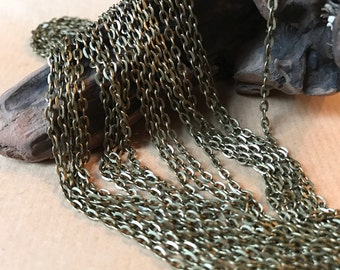 10 M - Chain iron antique bronze 3x2 mm