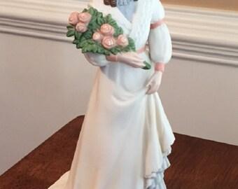 Porcelin Vintage Home Interiors Charlotte Rose Figurine