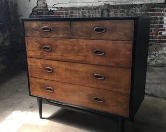 Mid century dresser mid century modern dresser danish modern bachelors chest mid century chest of drawers