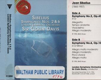 Sibelius Symphonies Nos. 2 & 6, London Symphony Orchestra, Sir Colin Davis, Cassette, 1994, Classical Music