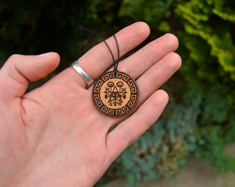 Wooden Protection Talisman/Sigil For Protection a Home from Fire & Other Disasters.