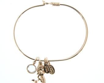 Rose Gold Mermaid Bracelet with Swarovski Crystal