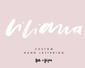 Custom Typography, Hand Lettering, Brush Lettering, Calligraphy Service // personalised, quote print, branding, packaging, blog logo, design