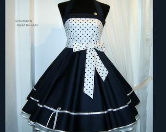 Petticoat dress, blue dress, dots dress, bachelor dress, confirmation dress, youth dress, wedding dress,prom dress, party dress, dress