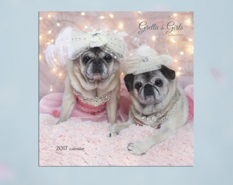 2017 Pug Wall Calendar