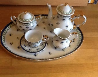 Vintage Miniature Coffee Set by Regal Porcelain. c1980s