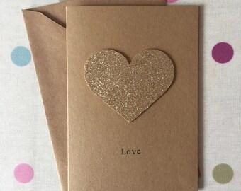 Anniversary Card - Heart Felt Card - Valentines Card - Golden Wedding Card