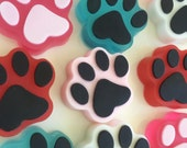 Paw Print Soap - Kitty Paw Print -Cat Lover Soap - Cat Lover Gift - Paw Print Gift - Kitty Paw Favor - Glycerin Soap - Animal Print Soap