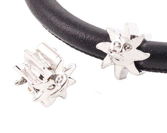 LM1837S ~ Adorable Silver Sun Charm for Wrap Charm Bracelets