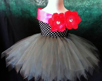 Jazzy Couture Gunmetal Tutu Dress