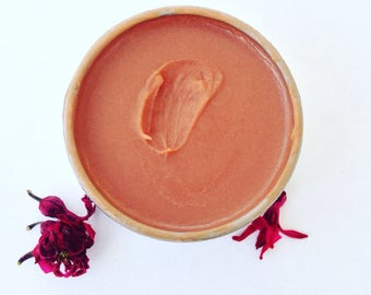 French Rose Balm. Organic botanical lip gloss. Plantbased makeup.