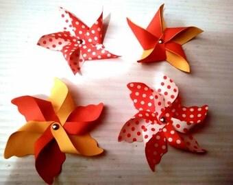 10 pinwheels, pinwheels, decorations, place cards, favor