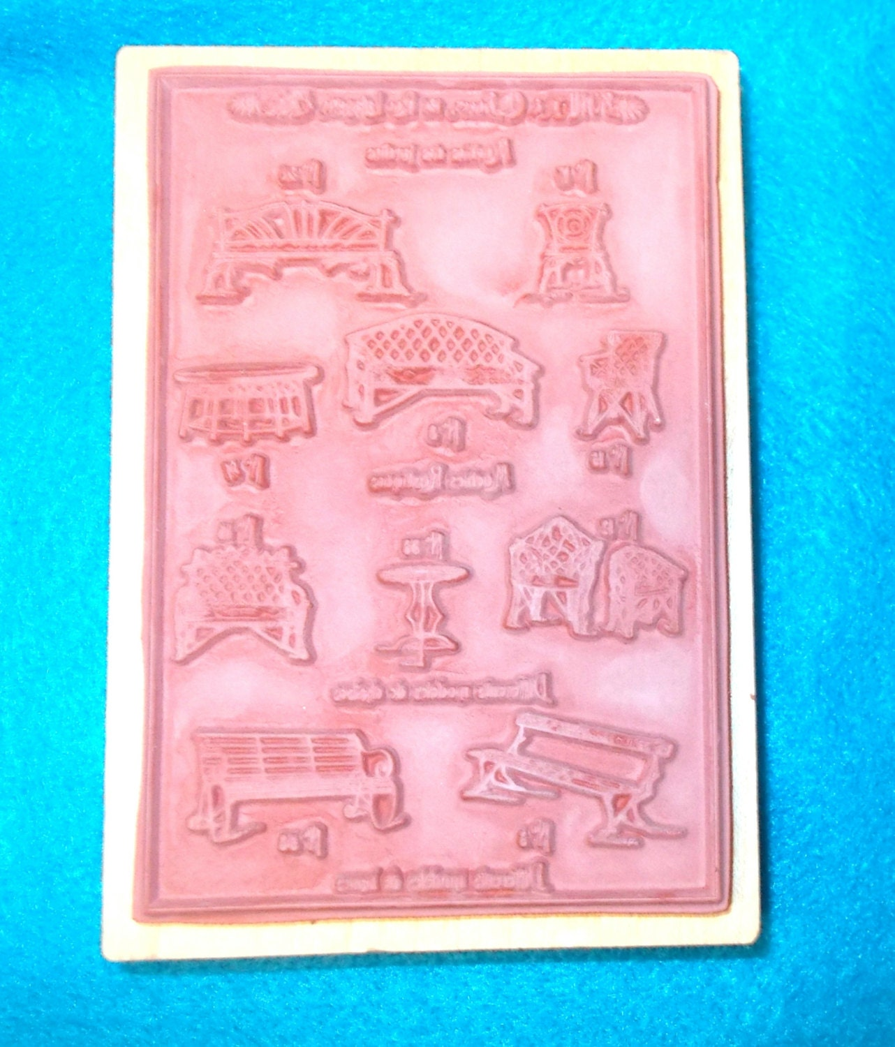 Stampa Rosa Tin Can Mail Rubber Stamp Paris Furniture  # Muebles Lafayet