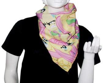 Clearance Sale & Free shipping - Fluttershy Bandana / Scarf (My Little Pony: Friendship is Magic / Equestria Girls) Napkin / Handkerchief