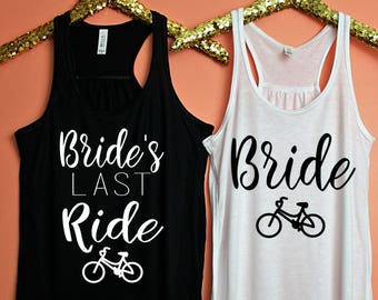 Bachelorette Party Shirts, Bride's Last Ride Flowy Racerback Tank Top, Workout Top, Tank Top, Bachelorette Party Tanks, Bachelorette