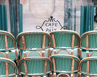 Paris Cafe Chairs, Paris Cafe Photo, Cafe de la Paix, Paris Photography, Paris Photo, Paris Home Decor, Parisian Home Decor, Dining Room